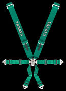 Genuine Takata Racing Harness 6 Piont 3 X 2 Inch Snap Green Fia Approve