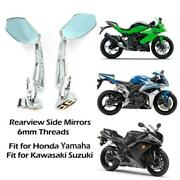 Chrome Motorcycle Sport Side Rearview Mirrors For Hayabusa Zx14r Zx10r R1 R6 Us