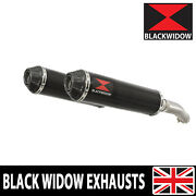 Fjr 1300 2006-2020 4-2 Exhaust Twin Mufflers Round Black Carbon Tip Bc37r