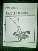 Troy-bilt Tuffy Roto Tiller Parts Catalog Ct900388 March 1988 Edition See Note