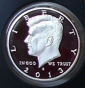 2013 S Silver Proof Gem Cameo Kennedy Half Dollar - Mint Condition 90 Silver