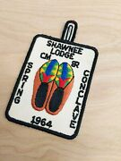 Vintage Boy Scout Pocket Patch Shawnee Lodge 1964 Spring Conclave Shoes Scouting