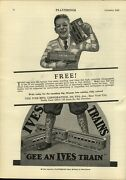 1926 Paper Ad Ives Toy Play Train Sets Parlor Car Railway Lines