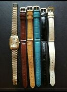 Ladies Vicence Italy 14k Gold Milor Watch With 5 Interchangeable Leather...