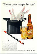 1938 White Rock Mineral Springs Co. Ad Sparkling Water - Magician, Magic Theme