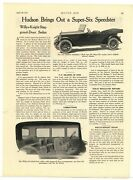 1917 Hudson Speedster Super Six Auto Article - From Motor Age Magazine