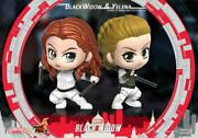 Hot Toys Ht Cosb752 Black Widow And Yelena Cosbaby Bobble-head Pvc Figure Dolls