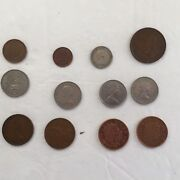 Assortment Of Older England Obsolete Coins Lot Of 13