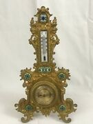 Decorative German Thermometer And Barometer On Easel Stand. 19th Century 16 H