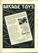 1926 Paper Ad Arcade Cast Iron Toy Truck Mack Dump Fordson Tractor Fire