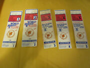 Rare Vintage 1984 Game 1-5 World Series Tickets San Diego Padres And Detroit Tiger