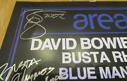 David Bowie Area2 Concert Poster Andndash Signed By All Artists Promo 2002 -moby Busta