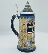 Germany Beer Stein Limited Edition By Armin Bay /3000 W/ Metal Lid. 11h.e06