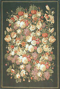 Aubusson Tapestry Hand-woven French Gobelins Still Life Wall Hanging Rug 4x6