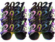 12 Pack Of 2021 New Years Eve Party Glasses Multi Metallic