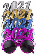 4 Pack Of 2021 New Years Eve Party Glasses Solid Metallic
