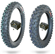 90/100-14 And 70/100-17 Dirt Bike Tire And Tube Combo Motocross Cr85 Yz85 Kx85