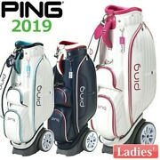 Ping Golf Ladies Cart Caddy Bag With Wheel Type 8.5 X 46 Inch 4.4kg Cb-l192 New