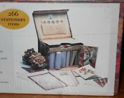 Vintage The Mail Box Rose 266 Pc Stationary Note Cards Sheets Envelopes Set