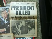 Jfk Newspapers Magazines Assassinationny Daily News Chicago Sun Times 11.63