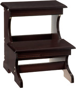 Wooden Step Stool Chair High Bed Home Kitchen Cabinet Stair Ladder Adult 2 Steps