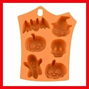6-grid Silicone Mold For Halloween Treat Chocolate Jelly Pudding Decorative Mold