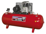 Compressor 500ltr Belt Drive 7.5hp 3ph 2-stage With Cast Cylinders From Sealey