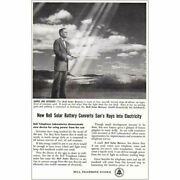1954 Bell Telephone New Bell Solar Battery Vintage Print Ad