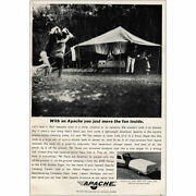 1964 Apache Camper You Just Move The Fun Inside Vintage Print Ad