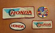 V49 Lot Of 4 Patches Off Vintage Honda Motorcycle Racing Good Year Jacket
