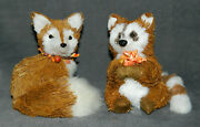 Bath And Body Works 3 Wick Candle / Table Racoon And Fox Figurine Topper Set - New