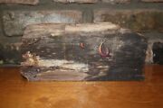 A Kelly Pruitt Paint On Petrified Wood Memory Of Wwii Fishing Sloops
