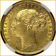 1879 S Young Head Saint George Reverse Gold Sovereign Sydney Mint