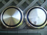 Two Vintage Ford 10 1/2 In Pickup Truck Center Caps Hubcaps Wheel Covers Fomoco