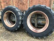 18.4 R38 Opico Dual Wheels Clamps And Nuts Ford Ferguson John Deere Tractor