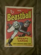 1980 Retro 1975 Wacky Packages Uncut Puzzle Back Beastball Excellent