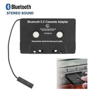 Car Bluetooth 4.0 Audio Stereo Cassette Tape Adapter To Aux For Iphone Ipod New