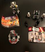 Lego Star Wars 3 Sets, Used,lot 6,with 5 Mini Figures, And Instruction, No Box.