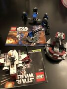 Three Lego Star Wars Sets,used,lot 5. With 5 Mini Figures,2 Instruction,no Box.