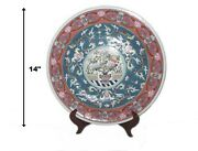 """Best Price """"macao Flowers"""" 14 Hand Painted Ethan Allen Porcelain Bowl Hong Kong"""