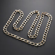 9 K Gold Solid Curb Solid Chain - 28 -8mm Rrp Andpound1580{b1_28_zz} Uk Hallmark ...