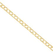 9 K Gold Square Curb Chain - 26.5 - Rrp Andpound1930 {b2_26_azz Uk Hallmark  ...