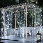 Le Outdoor Gazebo Lights Mains Powered 3mx3m Cool White Curtain Lights 8 Modes