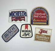Lot Of 5 Vintage Beer Related Patches