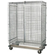Quantum Dolly Security Cage Unit, 70 High, 800lbs, Nsf, Chrome/epoxy