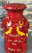 Vintage Milk Can Lid Metal Home Is Where The Heart Is Pennsylvania Dutch German