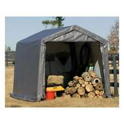 New Shelterlogic 10x10x8 Portable Garage Shed Canopy Car Atv Motorcycle Tractor