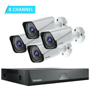 Security Camera System 4pcs 1080p Cameras 8ch Dvr Waterproof Wired Cctv Cameras