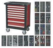 Rollcab 8 Drawer With Ball Bearing Slides And 707pc Tool Kit From Sealey Ap2408ttc