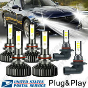 6x For Dodge Charger 06-09 9005 9006 Headlight And Foglight 9145 Led Bulbs 6000k